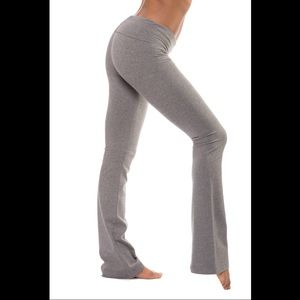 ♥️ HARDTAIL Roll Down Boot Cut Yoga Pant 330 Gray